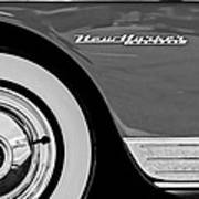1950 Chrysler New Yorker Coupe Wheel Emblem Poster