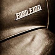 1953 Ford F-100 Pickup Truck Emblem Poster