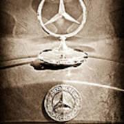 1953 Mercedes Benz Hood Ornament Poster