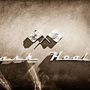 1953 Nash-healey Roadster Emblem Poster