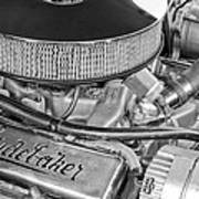 1953 Studebaker Champion Starliner Engine Poster