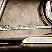 1953 Studebaker Champion Starliner Side Emblem Poster