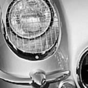 1954 Chevrolet Corvette Headlight Poster