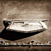 1954 Chevrolet Power Glide Emblem Poster