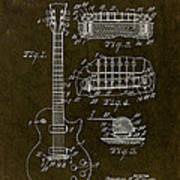 1955 Gibson Les Paul Patent Drawing Poster