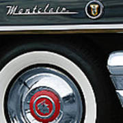 1955 Mercury Montclair Convertible Wheel Emblem Poster
