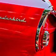 1956 Ford Thunderbird Taillight Emblem Poster
