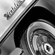 1956 Mercury Montclair Wheel Emblem Poster
