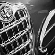 1957 Alfa-romeo 1900c Super Sprint Grille Emblem Poster