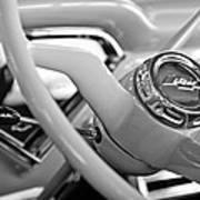 1957 Chevrolet Cameo Pickup Truck Steering Wheel Emblem Poster