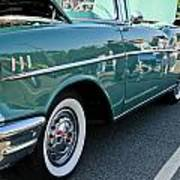 1957 Chevy Bel Air Green Right Side Poster