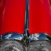1958 Chevrolet Corvette Headlights Poster