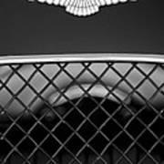 1959 Aston Martin Jaguar C-type Roadster Hood Emblem Poster