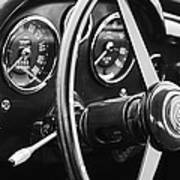 1960 Aston Martin Db4 Gt Coupe' Steering Wheel Emblem Poster