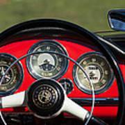 1961 Alfa-romeo Giulietta Spider Steering Wheel Emblem Poster