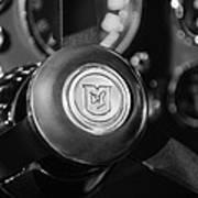 1964 Aston Martin Steering Wheel Emblem Poster