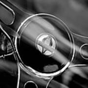 1965 Ford Mustang Cobra Emblem Steering Wheel Poster