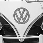 1966 Volkswagen Vw 21 Window Microbus Emblem Poster