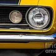 1967 Camaro Headlight Poster
