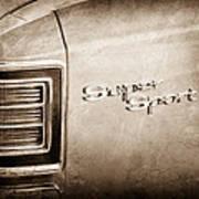 1967 Chevrolet Chevelle Super Sport Taillight Emblem Poster