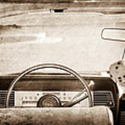 1967 Lincoln Continental Steering Wheel Poster