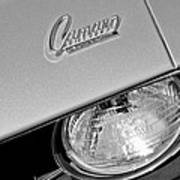 1969 Chevrolet Camaro Headlight Emblem Poster