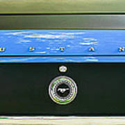 1970 Ford Mustang Boss 302 Fastback Taillight Emblem Poster