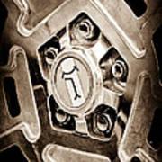 1972 Detomaso Pantera Wheel Emblem Poster