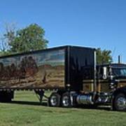 Smokey And The Bandit Tribute 1973 Kenworth W900 Black And Gold Semi Truck Poster