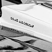 1980 Chevrolet Malibu Ss Cowl Induction Hood Emblem Poster
