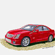 2013 Cadillac C T S  V Poster