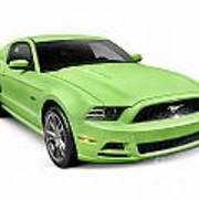 2013 Ford Mustang Gt 5.0 Sports Car Poster