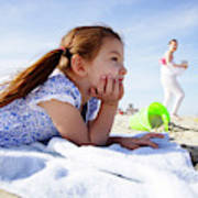 A Cute Little Hispanic Girl In A Summer Poster