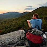 A Man Hikes Along The Appalachian Trail Poster