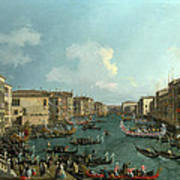 A Regatta On The Grand Canal Poster
