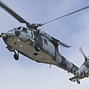 A U.s. Navy Mh-60s Seahawk In Flight Poster