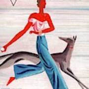 A Vintage Vogue Magazine Cover Of An African Poster