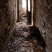 Abandoned Building - Hallway To Ladies Room Poster