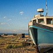 Abandoned Fishing Boat Digital Painting Poster by Matthew Gibson