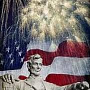 Abraham Lincoln Fireworks Poster