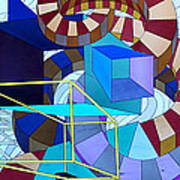 Abstract Art Stained Glass Poster by Mountain Dreams