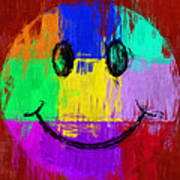 Abstract Smiley Face Poster