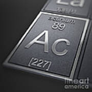 Actinium Chemical Element Poster