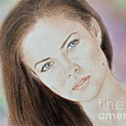 Actress And Model Susan Ward Blue Eyed Beauty With A Mole Poster
