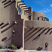 Adobe Architecture In Santa Fe Poster
