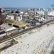 Aerial Of Downtown Atlantic City Poster