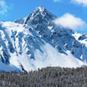 Aerial Of Mount Sneffels With Snow Poster