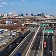 Aerial Over Newark Poster