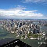 1-aerial View Of Manhattan Poster