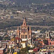 Aerial View Of San Miguel De Allende Poster